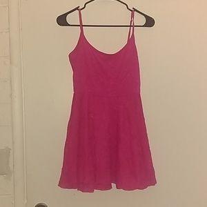 H&M Hot Pink Lace Dress